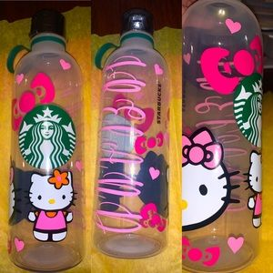 Custom hello kitty Starbucks water bottle